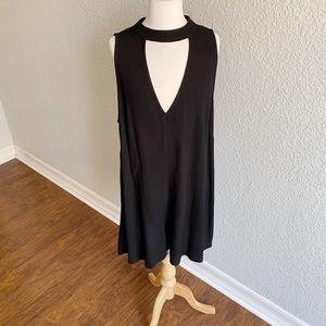 ASTR Black Shorts Romper W/ Keyhole Top